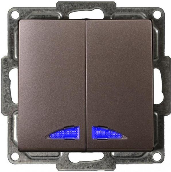 Visage Serienschalter mit LED Anthrazit