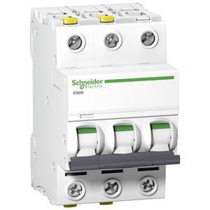 Schneider A9F04306 Leitungsschutzschalter C 6A-6kA-iC60N-3Polig