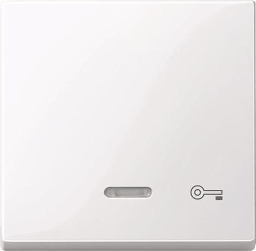 """Merten 435325 Kontroll-Wippe mit Symbol """"Schlüssel"""" Aktivweiß-Glänzend"""