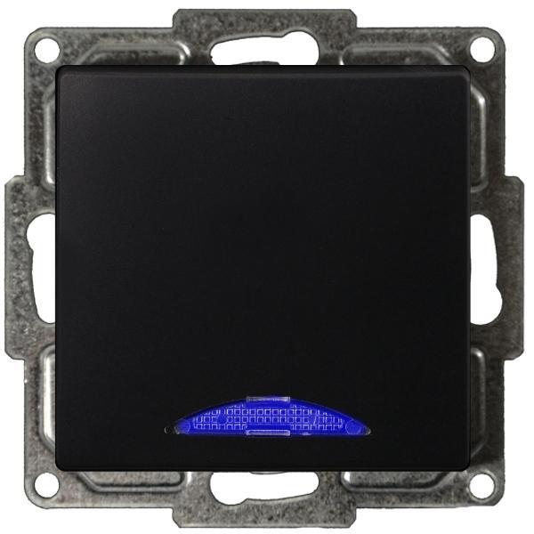 Visage Ein/Ausschalter mit LED Schwarz