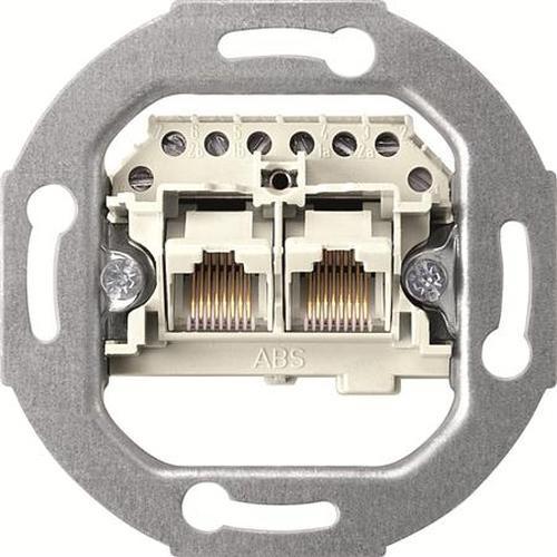 Merten 465702 UAE-Einsatz 2-Fach 2x8 weiß