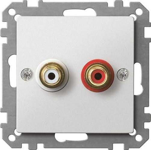 Merten MEG4350-0419 Steckdose für Audio Anschluss Polarweiß