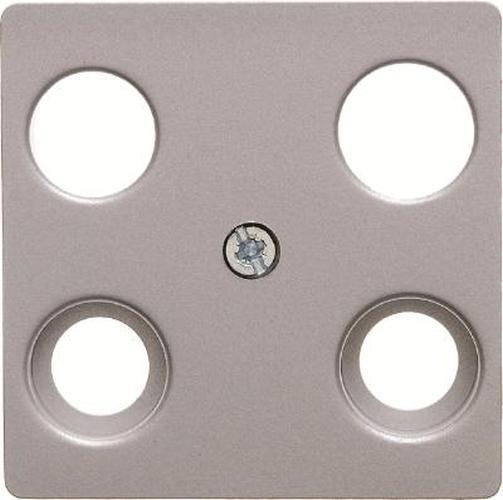Berker 14831404 Zentralplatte für Antennen-Steckdose 4Loch Zentralplattensystem Alu, Matt