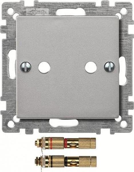 Merten 469360 Zentralplatte mit High-End Lautsprecher-Steckverbinder Aluminium