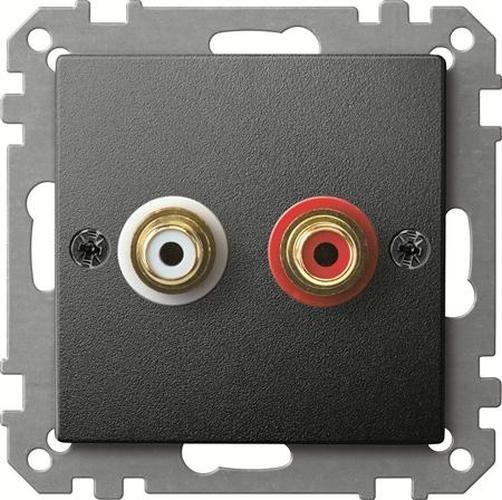 Merten MEG4350-0414 Steckdose für Audio Anschluss Anthrazit