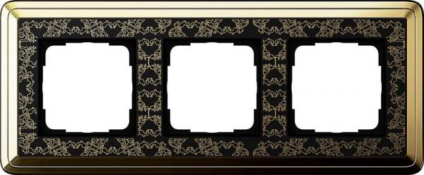 GIRA 0213672 Rahmen 3-Fach ClassicX Art Messing-Schwarz
