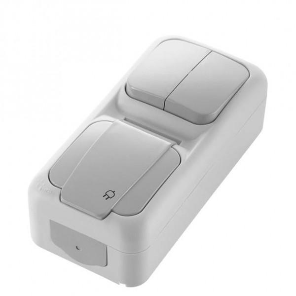 viko feuchtraum kombi steckdose serienschalter ip54 senkrecht aqua proof viko schalter. Black Bedroom Furniture Sets. Home Design Ideas