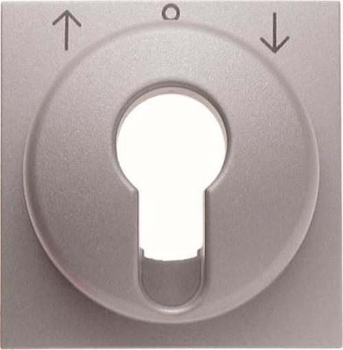 Berker 15061404 Zentralstück für Jalousie-Schlüsselschalter/-taster B.7 Alu, Matt