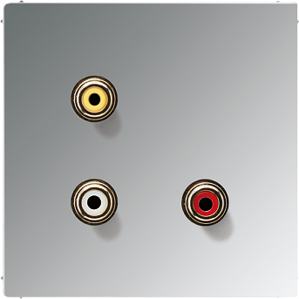 JUNG MAGCR1031 Cinch Audio-Composite Video Glanz-Chrom