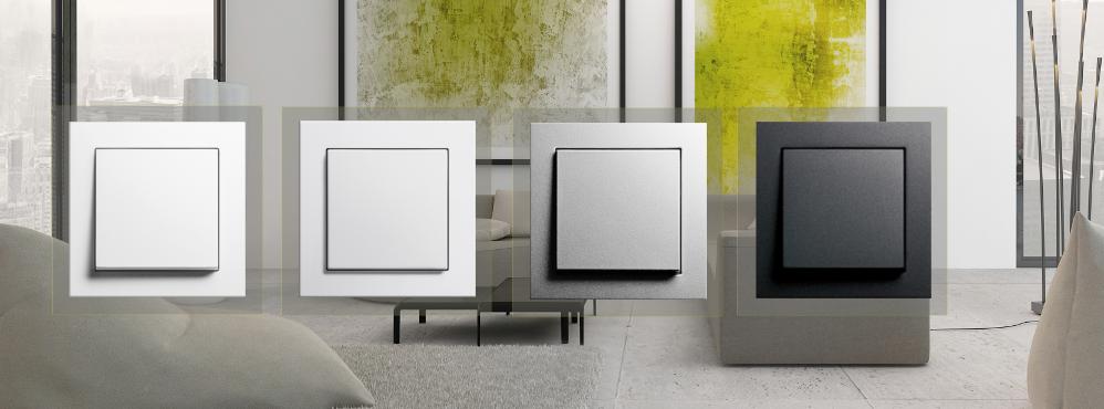 e2 system 55 gira schalter steckdosen steckdosen24. Black Bedroom Furniture Sets. Home Design Ideas