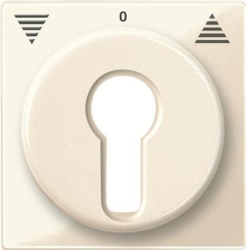 Merten 319444 Zentralplatte Schlüsselschalter Weiß-Glänzend