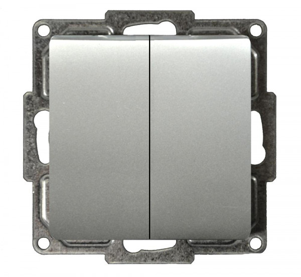 Moderna Serienschalter Silber
