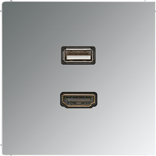 JUNG MAGCR1163 HDMI-USB2.0 Glanz-Chrom