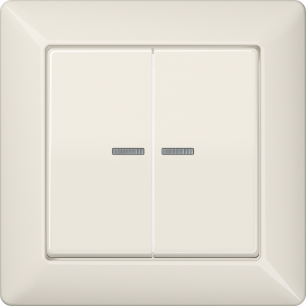 JUNG AS590-5KO5 Kotroll-Serien-Abdeckung Volle-Platte Cremeweiß