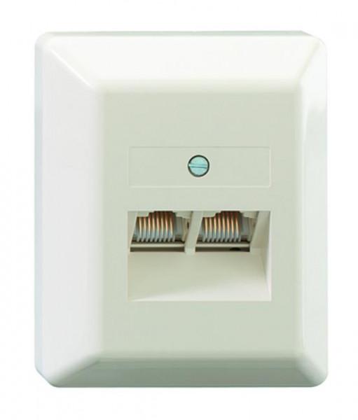 RUTENBECK 13010108 UAE 2x8(8) Ap Anschlußdose Creme-Weiß