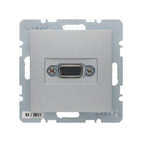 Berker 3315411404 VGA Steckdose mit Schraub-Liftklemmen B.7 Alu, Matt