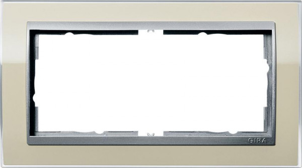 GIRA 1002776 Rahmen 2-Fach E2 ohne Mittelsteg Event Farbe-Sand/Farbe-Alu