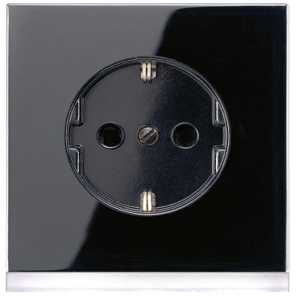 JUNG LS520-OSWLEDW Steckdosen-Einsatz mit LED-Orientierungslicht Schwarz