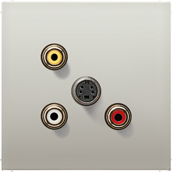 JUNG MAES1051 Cinch Audio-Composite Video-S-Video Edelstahl
