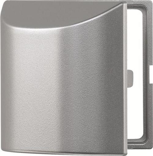 Merten 518260 Zwischenring 50x50 mit Klappdeckel Aluminium