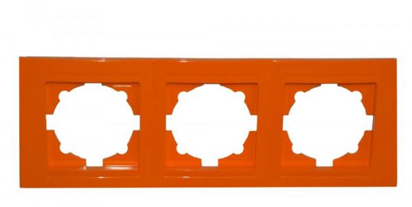 Moderna 3-Fach Abdeckrahmen Orange