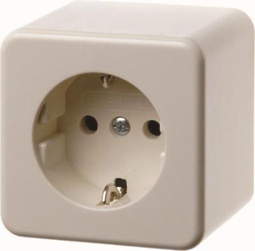 Berker 470030 Steckdose SCHUKO mit erhöhtem Berührungsschutz Aufputz Weiß, Glänzend