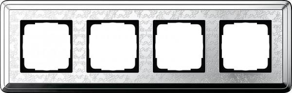 GIRA 0214681 Rahmen 4-Fach ClassicX Art Chrom