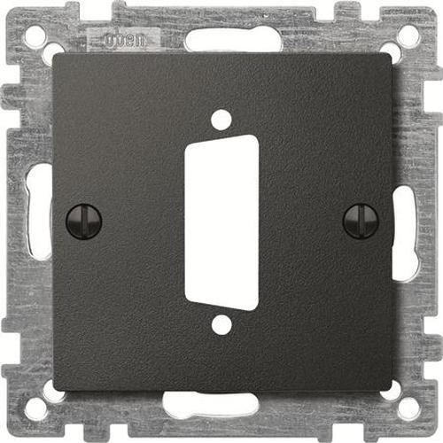 Merten 468214 Zentralplatte für D-Subminiatur-Steckverbinder 15-Polig Anthrazit