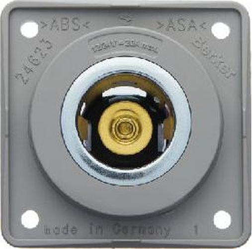 Berker 845712507 Power Steckdose 12 V, Integro Modul-Einsätze, Grau Glänzend