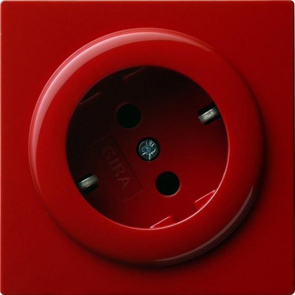 GIRA 044843 Steckdosen-Einsatz 30° Rot