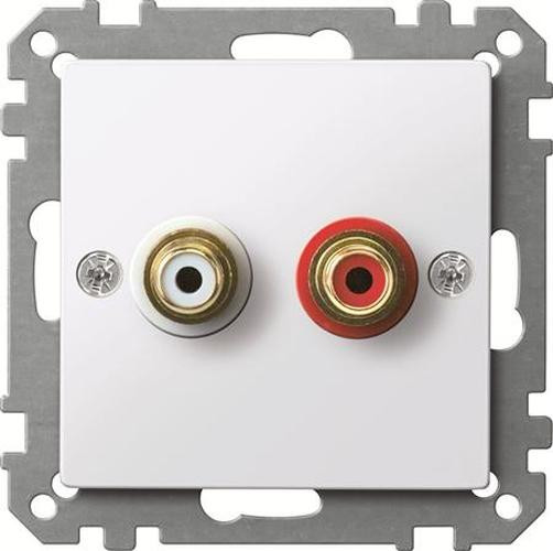 Merten MEG4350-0325 Steckdose für Audio Anschluss Aktivweiß-Glänzend