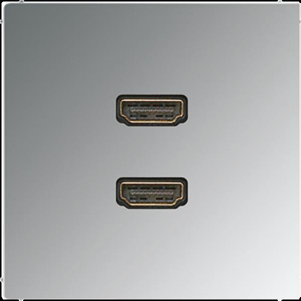 JUNG MAGCR1133 2xHDMI Glanz-Chrom