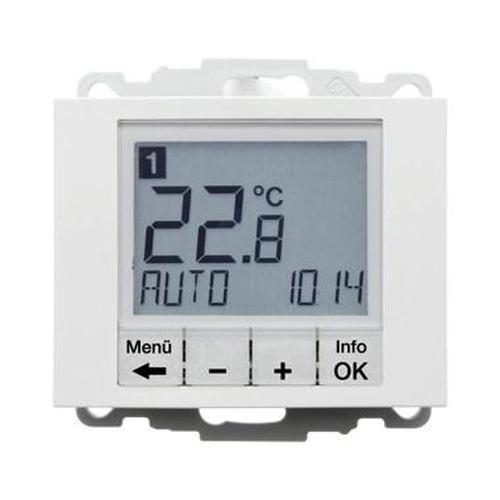 Berker 20447109 Temperaturregler, Schließer, mit Z.-Stk., zeitgesteuert K.1 Polarweiß, Glänzend
