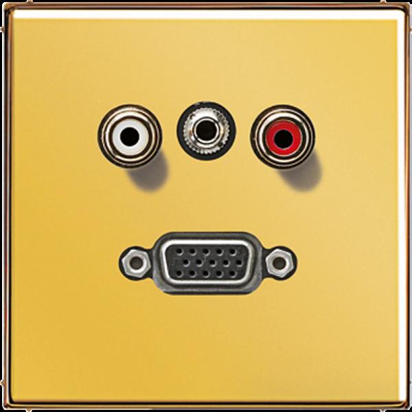 JUNG MAGO1072 Cinch Audio-Miniklinke 3,5 mm-VGA Goldfarben