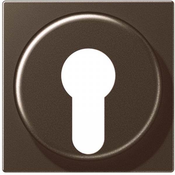 JUNG A528PLMO Abdeckung für Schlüsselschalter Mokka