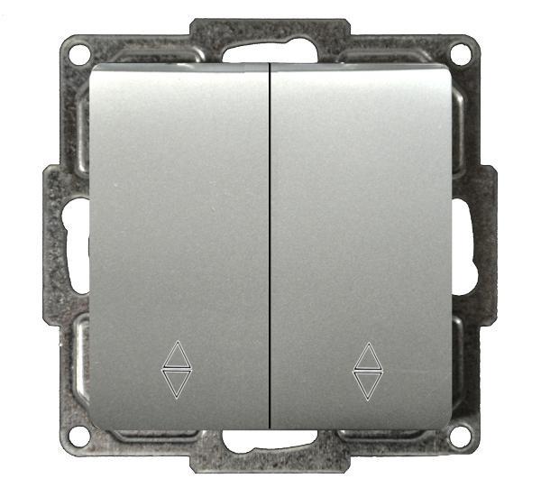 Moderna Doppel-Wechselschalter Silber