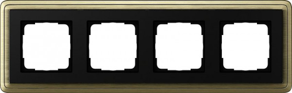 GIRA 0214622 Rahmen 4-Fach ClassicX Bronze-Schwarz