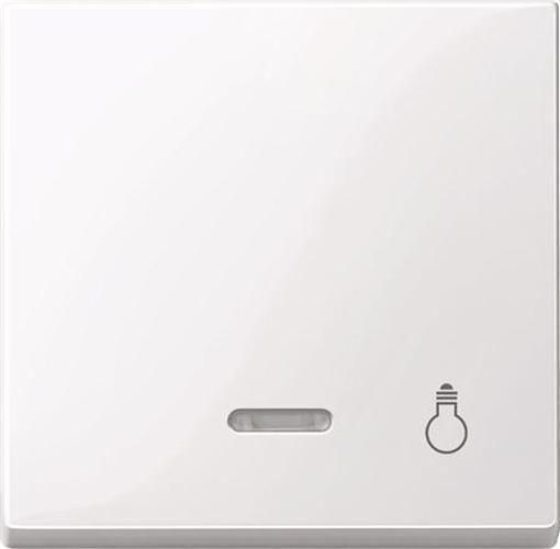"""Merten 435925 Kontroll-Wippe mit Symbol """"Licht"""" Aktivweiß-Glänzend"""