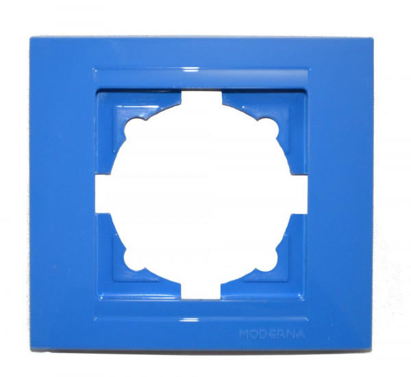 Moderna 1-Fach Abdeckrahmen Blau