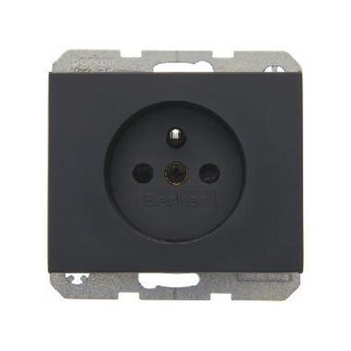 Berker 6768757006 Steckdose mit Schutzkontaktstift erhöhtem Berührungsschutz K.1 Anthrazit Matt