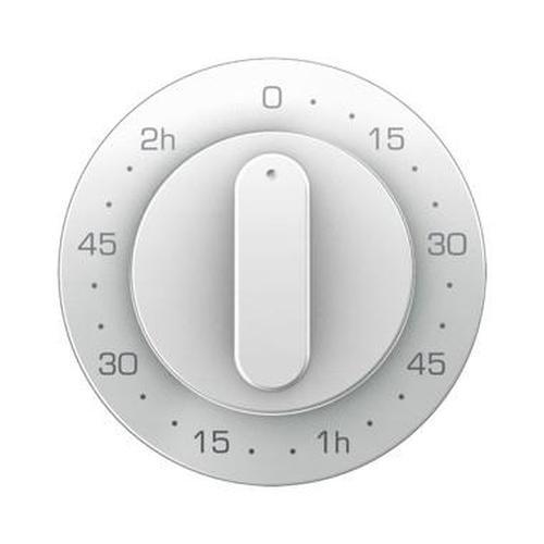 Berker 16332089 Z.-Stk. mit Regulierknopf für mech. Zeitschaltuhr R.1/R.3 Polarweiß, Glänzend