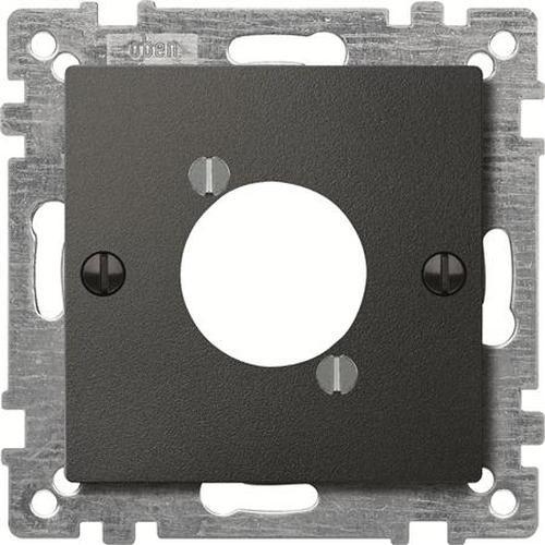 Merten 468914 Zentralplatte für Audio-Steckverbinder XLR Anthrazit