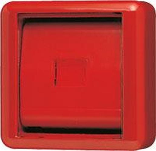 JUNG 860WGLRT Abdeckung mit Glasscheibe Rot
