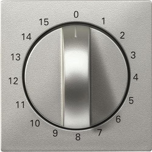 """Merten 539060 Abdeckung Zeitschaltuhr """"15 Min"""" Aluminium"""