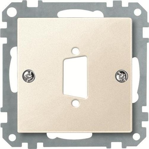 Merten 468144 Zentralplatte für D-Subminiatur-Steckverbinder 9-Polig Weiß