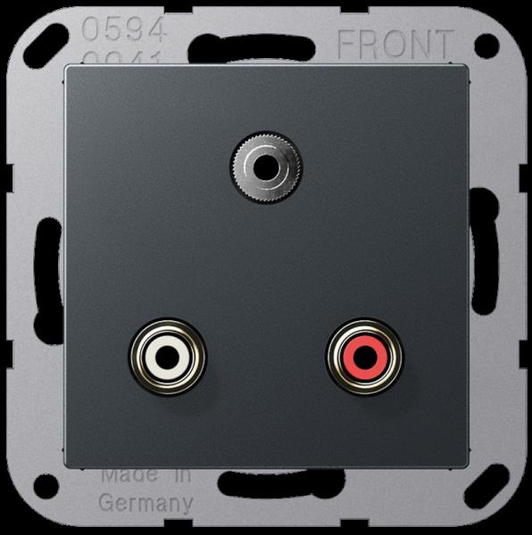 JUNG MAA1011ANM Cinch Audio-Miniklinke 3,5 mm Anthrazit-Matt