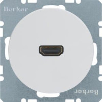 Berker 3315422089 High Definition Steckdose R.1/R.3 Polarweiß, Glänzend