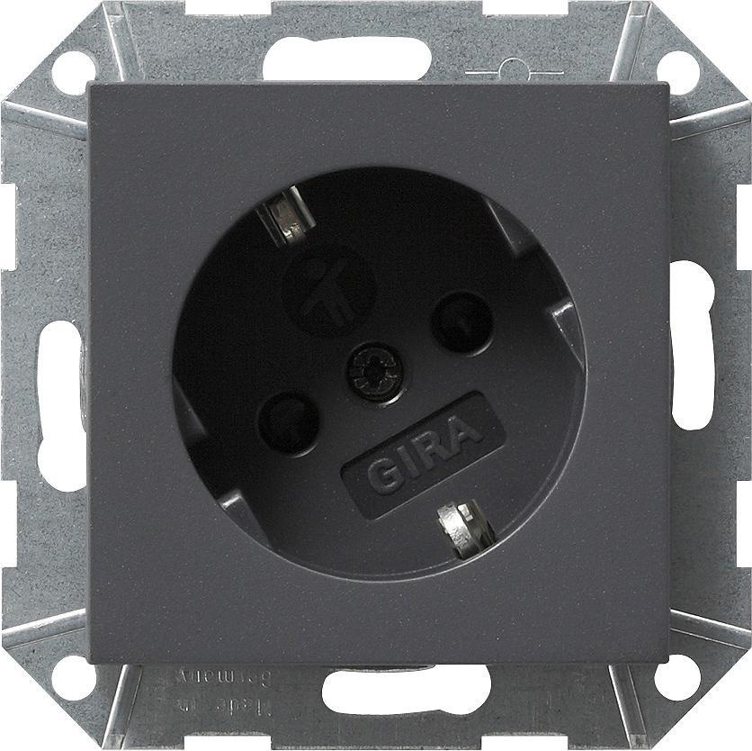 anthrazit steckdosen event system 55 gira schalter steckdosen steckdosen24. Black Bedroom Furniture Sets. Home Design Ideas