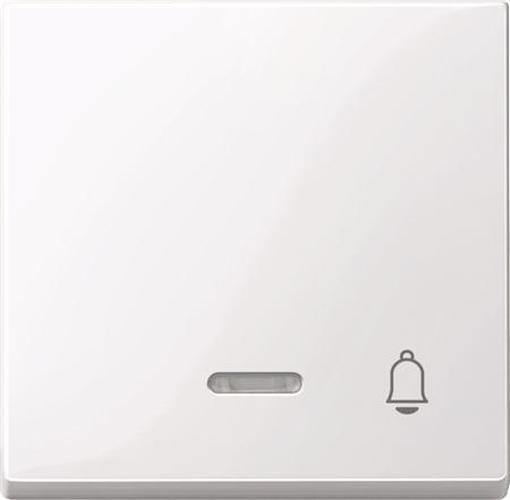 """Merten 435825 Kontroll-Wippe mit Symbol """"Klingel"""" Aktivweiß-Glänzend"""