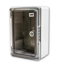 ABS Schaltschrank 300x200x130  incl. Montageplatte Transparent IP65